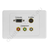 Clipsal 2000 Wall Plate VGA S-Video Component RGB