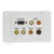 Clipsal 2000 AV Wall Plate VGA Audio Composite S-Video