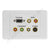 Clipsal 2000 AV Wall Plate VGA Audio Component S-Video