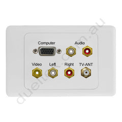 Clipsal 2000 AV Wall Plate VGA Audio Composite F-Type
