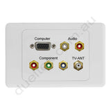Clipsal 2000 AV Wall Plate VGA Audio Component F-Type