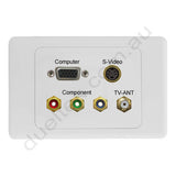 Clipsal 2000 Wall Plate VGA S-Video Component F-Type