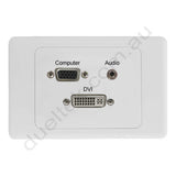 Clipsal 2000 AV Wall Plate VGA DVI 3.5mm