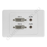 Clipsal AV Wall Plate with DVI Audio