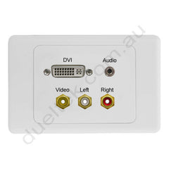 Clipsal AV Wall PLate with DVI Audio Composite RCA