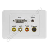Clipsal AV Wall Plate with DVI Svideo Composite RCA