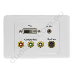 Clipsal AV Wall Plate with DVI Audio Svideo Component RGB
