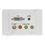 Clipsal AV Wall Plate DVI Audio F-Type Component RGB