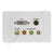 Clipsal AV Wall PLate with DVI Svideo Component F-Type