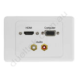 Clipsal AV Wall Plate HDMI VGA RCA Audio