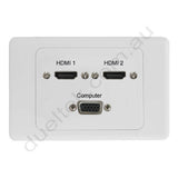 Clipsal AV Wall Plate with HDMI VGA