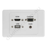 Clipsal AV Wall Plate HDMI USB VGA Audio