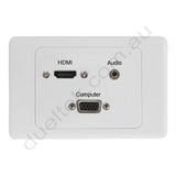 Clipsal AV Wall Plate HDMI VGA Audio