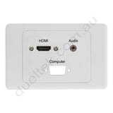 Clipsal Wallplate HDMI VGA Audio