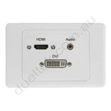 Clipsal AV Wall Plate HDMI Audio DVI