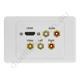 Clipsal AV Wall Plate HDMI Audio Composite RCA