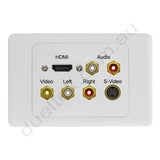 Clipsal AV Wall Plate HDMI Audio Coposite Svideo