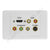 Clipsal AV Wall Plate HDMI Audio Component S-Video