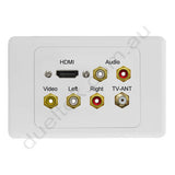 Clipsal AV Wall Plate HDMI Audio Composite F-Type