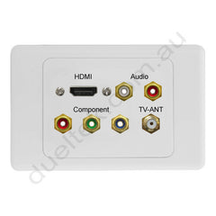 Clipsal AV Wall Plate HDMI Audio Component F-type