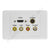 Clipsal AV Wall Plate HDMI Svideo Composite RCA F-Type