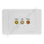 Clipsal AV Wall Plate with Composite RCA