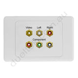 Clipsal AV Wall Plate with Composite Component RGB RCA
