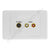 Clipsal AV Wall Plate Svideo Audio