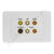 Clipsal AV Wall Plate with Composite RCA Svideo
