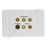 Clipsal AV Wall Plate with Component RGB Svideo and RCA