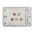 Clipsal AV Wall Plate with Composite RCA Stereo