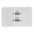 Clipsal AV Wall Plate with USB