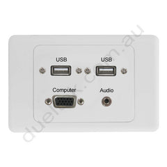 Clipsal AV Wall Plate with Audio USB VGA