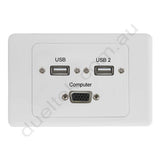Clipsal AV Wall PLate with USB VGA