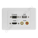 Clipsal 2000 Wall Plate VGA USB HDMI Audio