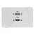 Clipsal 2000 Wall Plate HDMI USB
