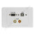 Clipsal 2000 Wall Plate VGA USB Audio