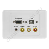 Clipsal 2000 AV Wall Plate VGA 3.5mm USB-B Composite