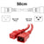 50cm Red C19-C20 15A Enterprise Class Extension Cord CAB27-005-RED