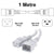 1M White C19-C20 15A Enterprise Class Extension Cord CAB27-010-WHI
