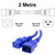 2M Blue C19-C20 15A Enterprise Class Extension Cord