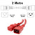 2M Red C19-C20 15A Enterprise Class Extension Cord CAB27-020-RED