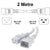 2M White C19-C20 15A Enterprise Class Extension Cord CAB27-020-WHI