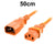 50cm Orange IEC-C14 to IEC-C13 Power Cord CAB29-005-ORN