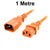 1M Orange IEC-C14 to IEC-C13 Power Cord CAB29-010-ORN
