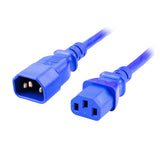 Blue IEC-C14 to IEC-C13 Power Cord
