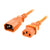 Orange IEC-C14 to IEC-C13 Power Cord