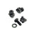 Set of Black M6 Captive Cage Nuts CAGENUT50