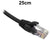 25cm Black CAT6 RJ45 UTP Patch Lead Dueltek CAT6-0.25-BLK