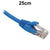 25cm Blue CAT6 RJ45 UTP Patch Lead Dueltek CAT6-0.25-BLU